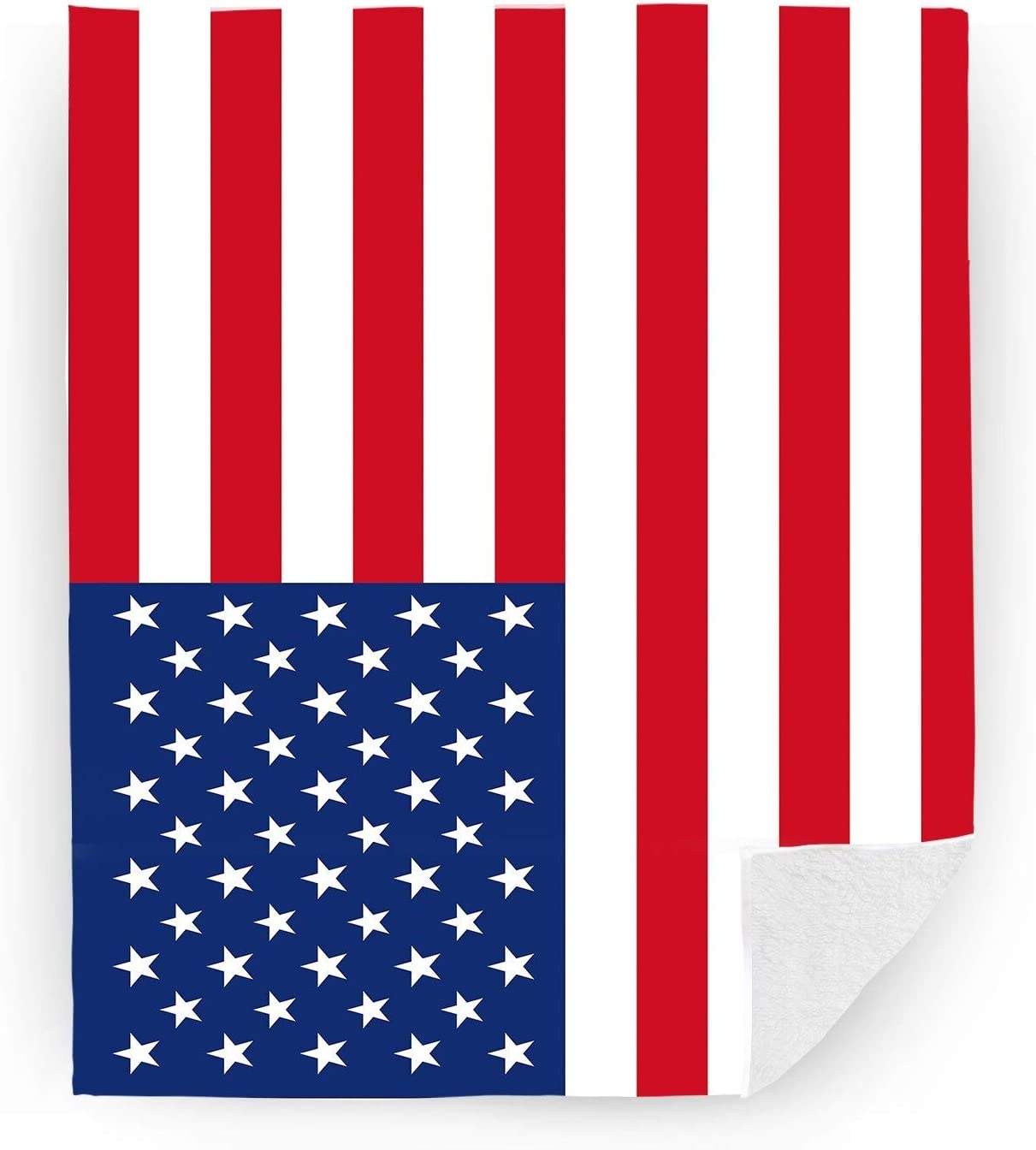 Minneapolis Mall Now on sale Hooome Thick American Flag Blanket Super x Queen Size Soft 6 50