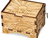 TheLaser'sEdge, You are My Sunshine, Personalizable Music Box, Laser Engraved Wood (Artistic Standard)
