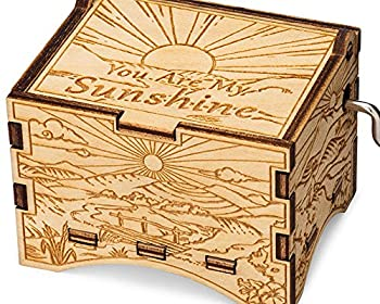 TheLaser sEdge You are My Sunshine Personalizable Music Box Laser Engraved Wood  Artistic Standard