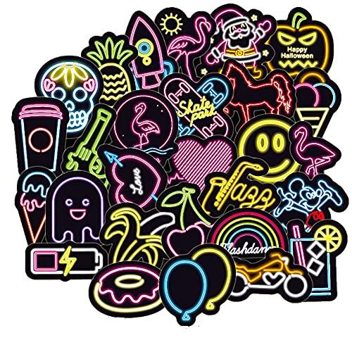 Neon Light Stickers Pack 100pcs Vintage Pop Art Sticker Bomb Graffiti...