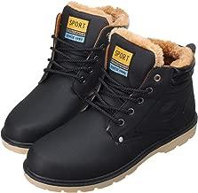 Chaussure de Ville /à Lacets Bottines de Neige en Nubuck Imperm/éable avec Fourrure Chaude Confortable Boots Chukka Noir Marron Soldes Gracosy Bottes Hiver Fourr/ées Hommes