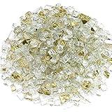Preauti - Gránulos de Cristal Templado Reflectantes para Horno, Chimenea o fogata, con Revestimiento de Espejo