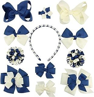 school hair accessories blue