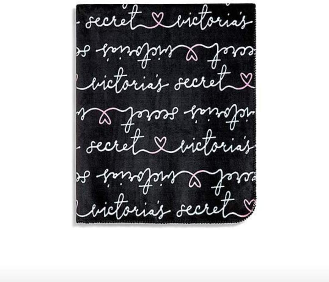 Victoria's Don't miss the campaign Secret Soft FleeceThrow Blanket 50x60 Black NWT Direct stock discount