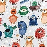 MAGAM-Stoffe Monster Spaß Jersey Kinder Stoff Oeko-Tex