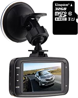 GS8000L Car DVR 1080P,HD Traveling Driving Data Recorder Camcorder Vehicle Camera Night Version Dashboard Dash Cam with 140 Degree Angle View Black,with 32GB Card,