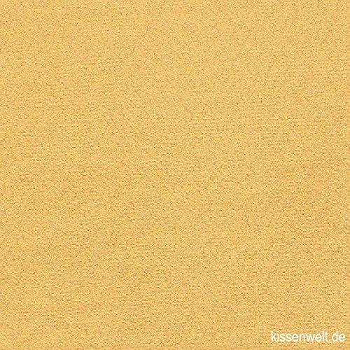 kissenwelt.de Hochwertiger Polsterstoff Mikrofaser Alcala Gold-BEIGE - Alcantara ähnlich - 1,40 m Breite