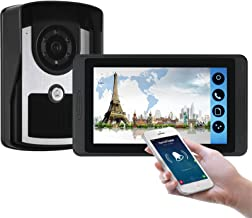 Wifi Video Deurbel, Video Deurtelefoon Beveiliging Surveillance Kit, Intercom, Nachtzicht Camera + 7 Inch Display, Monitor...