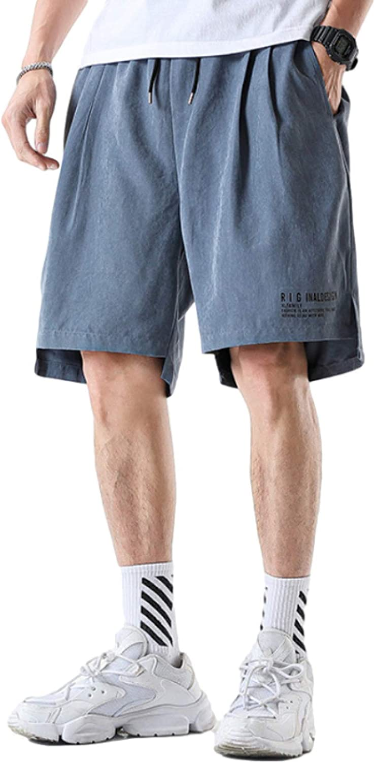 Katenyl Men's Shorts Trend Relaxed Sports Large Size Casual Streetwear Elasticated