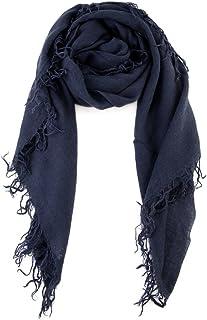 Chan LUU NEW Blue Night Beautiful Cashmere & Silk Soft Scarf Shawl Wrap