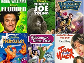Flubber, Mighty Joe Young, Treasure Planet, Hercules, The Hunchback of Notre Dame, Tom & Huck - Disney VHS 6 Pack