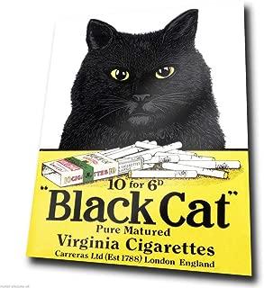 Metal Sign Wall Plaque Black Cat Cigarettes Vintage Advert Picture