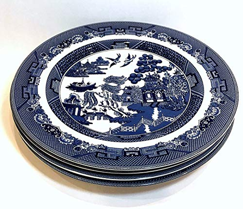 Johnson Brothers Bros Blue Willow Dinner Plate, Set of 4