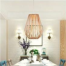 HN Lighting Chandelier Nordic Living Room Study Pendant Light Modern Solid Wood Art Ceiling Lighting