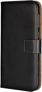 Samsung Galaxy Xcover 4 Case,iCoverCase Premium Leather Case [Kickstand & Magnetic Closure] [Card Slot] Shockproof Folio Flip Wallet Leather Case [Slim Fit] for Samsung Galaxy Xcover 4 5''-Black