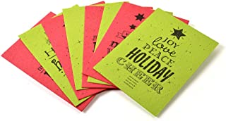 Bloomin Vintage Holiday Panel Cards - Handmade Seed Paper (Collection of 4 Designs)