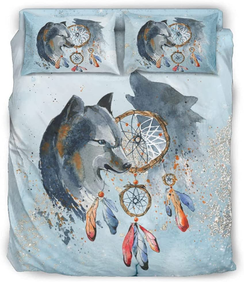 Comforter Cover Wolf Dream Catcher Cheap bargain Soft Max 45% OFF Microfiber - Ultra 4-Pie
