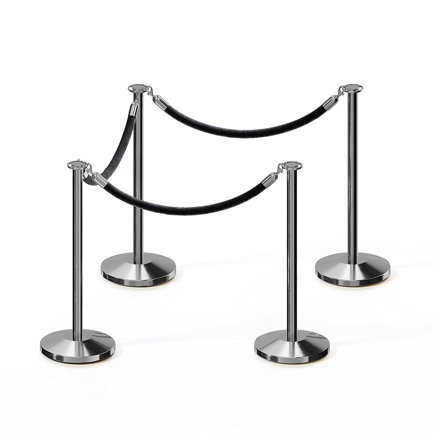CCW Post and Rope Deluxe Stanchion Kit Steel Max 45% OFF with Stainless 4 Polished