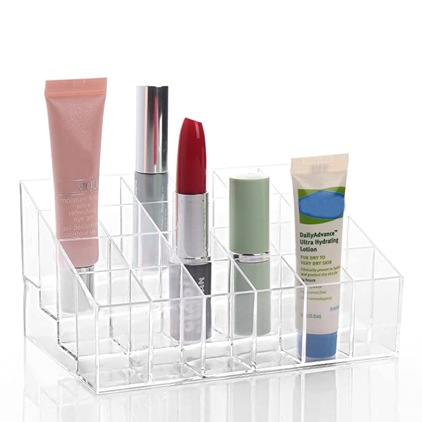トライアスロンカーテン男やもめLinyuan 24 Sections Clear アクリル Cosmetic Storage Box Lipstick Rack A77