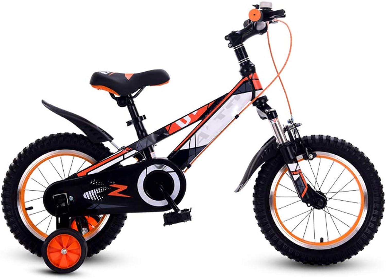 Kinderfahrrder HAIZHEN Kinderwagen Jungenfahrrad Fahrradfahrrad für Jungen und Mdchen, 12 Zoll, 16 Zoll, 95% montiert, Geschenk für Kinder Für Neugeborene (Farbe   Orange, gre   18 inch)