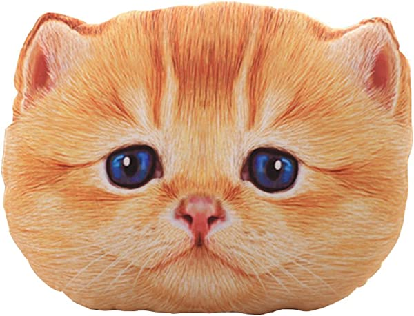 LivebyCare 3D Cat Stuffing Throw Pillow Stuffed Plush Toy Play Doll Filled Home Decoration Filling Cushion For Drawing Room Sofa Couch Lounge Deck Chair Seat Back Bench