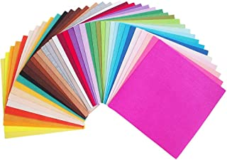 42 Pieces Craft Felt Fabric Sheets Craftwork Assorted Colors Squares