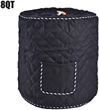 Sanmubo Electric Pressure Cooker Dust Cover Waterproof Dustproof Cover For Kitchen Decorative Cover For Electric Pressure Cookers Has Pocket For Accessories - Fits 6/8QT Instant Pot (Black,Red)