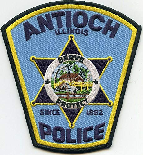 Shoulder Patches for Man & Woman Antioch Illinois IL Police Patch