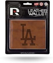 محفظة جلدية ذات طيات جلدية باللون البني المنقوش لوس أنجلوس لوس أنجلوس دودجرز MLB من ريكو