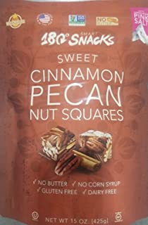 180 Snack Sweet Cinnamon Pecan Nut Squares