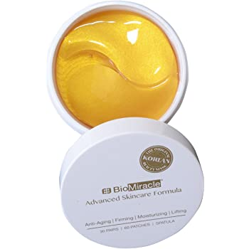 BioMiracle - Pure 24K Gold Hydrogel Eye Mask for Soothing, hydrating & Lifting (60 Pieces)