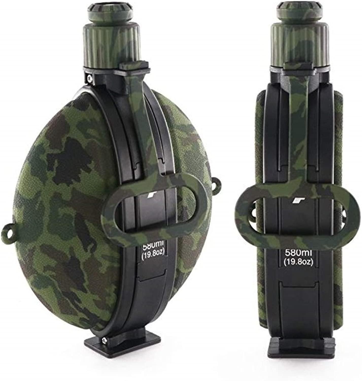 Bott Flasche, Wasserflasche, Outdoor-Bergsteigen-Reitkessel Silikon-Wasserkocher (Farbe   Camouflage Grün)