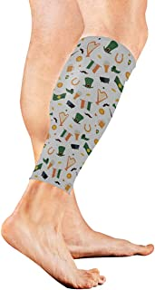 St Patrick's Day Green Shamrock Calf Compression Sleeve Leg Compression Socks For Shin Splint Calf Pain Relief Men Women And Runners Improves Circulation Recovery