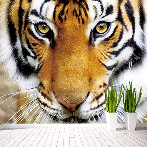 Fotobehang Dier Tijger Niet-geweven Premium Art Print Fleece muur muurschildering Poster voor Woonkamer TV Achtergrond Muur 118.11x82.67 inch