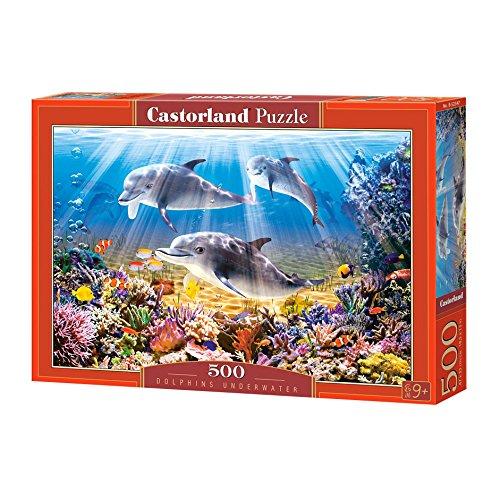 Castorland B-52547 Dolphins Underwater,Puzzle 500 Teile, bunt