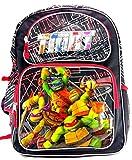 Teenage Mutant Ninja Turtles 16' Canvas Black & Red School Backpack