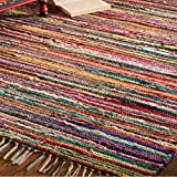 Alfombra de trapo Indian Arts de comercio justo con 100% materiales reciclados, multicolor 60 x 90cm multicolor