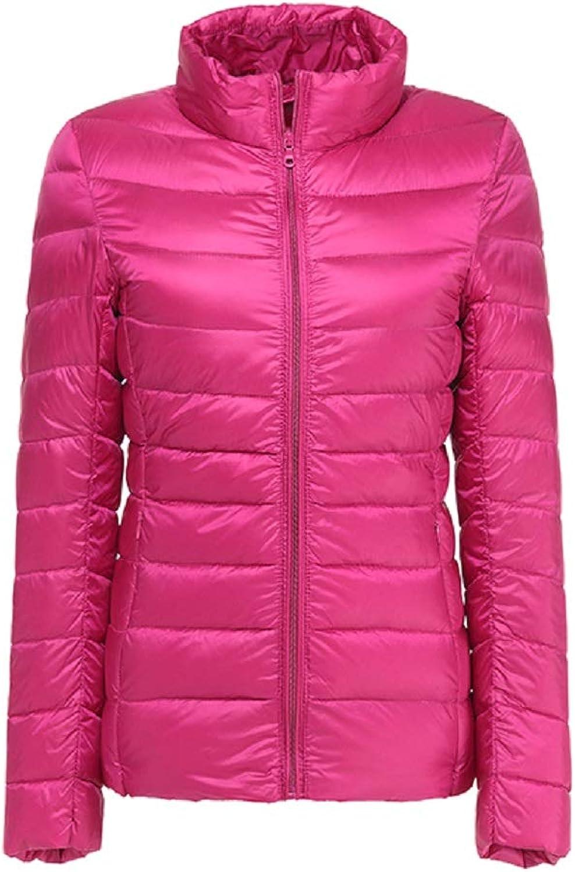 Aehoor Winter Jacket Womens 90% White Duck UltraThin Down Jacket LongSleeved Pike