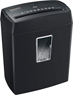 Bonsaii 6-Sheet Cross-Cut Paper Shredder, 4-Minute Continuous Running Time, Shredders for..
