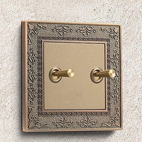PJDOOJAE 86 Tipo EU 220V 1/2/3/4 GANG 2 WAY SMART SMART Retro Interruptor de pared Interruptor de luz Vintage Toggle Interruptor de pared retro 10A Interruptor de pared de pared Interruptor de control