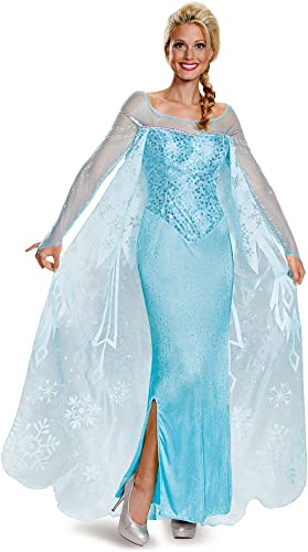 Disney Frozen Elsa Prestige Adult Costume Small 4-6