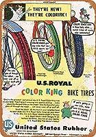 1956年の米国のゴム色の自転車タイヤグッズウォールアート