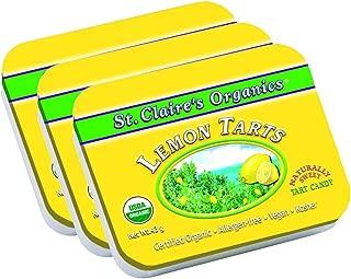 St. Claire's Organics Lemon Tarts, 1.5 oz Tin (Bundle of 3)