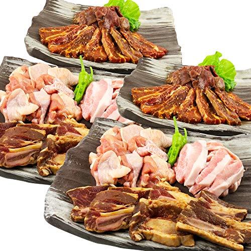 メガ盛り 焼肉BBQセット(10〜12人向け)[2.6Kg] / 大盛り 焼肉 バーベキュー キャンプ アウトドア (ギフト 贈り物にも)