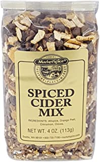 Mulling Spice, Market Spice Spiced Cider Mix For Hot Apple Cider Or Hot Wine, Allspice, Orange Peel, Cinnamon And Cloves, 4 Oz. or 8 Oz. Package (Spice Cider Mix, 4 Oz.)