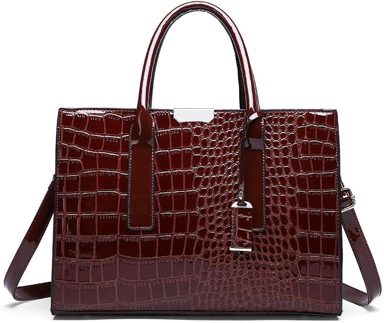 KUNZITE Women Alligator Pattern Handbags Large Capacity Square Messenger Sling Bag for Female and Ladies