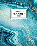 2020 Weekly Planner: Monthly Weekly Daily Views with To-Do€™s, Funny Holidays & Inspirational Quotes, Vision Boards, Notes & More | 2020 Organizer, Agenda & Diary | Pretty Blue Agate Marble