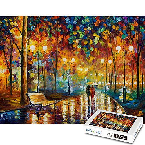 Ingooood Rainy Night Walk Wooden Puzzle 1000 Pieces