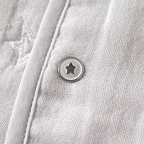 10moisディモワふくふくガーゼ(6重ガーゼ)ちょっきグレー70~80cm