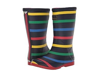 Joules Kids Printed Welly Rain Boot (Toddler/Little Kid/Big Kid) (Navy Multi Stripe 1) Boys Shoes